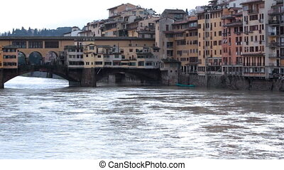 Buildings and water - Ponte Vecchio - Buildings and water on...
