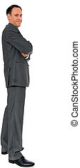 Businessman - Full length image of a businessman All on...