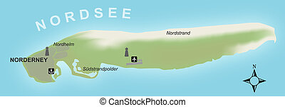 Map - Norderney