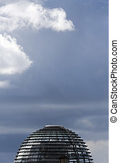 Reichstag dome - The glass dome of Reichstag, German...