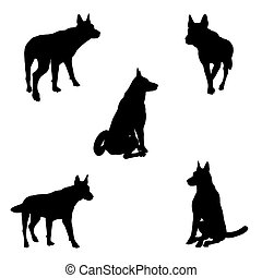 Dog Silhouettes - 2