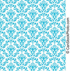 seamless damask pattern - Damask seamless vector pattern For...