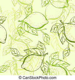 lemon seamless pattern - vector lemon seamless pattern
