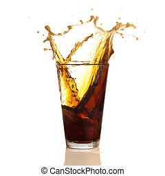 brown beverage
