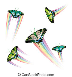 Butterfly Collection with rainbow jet