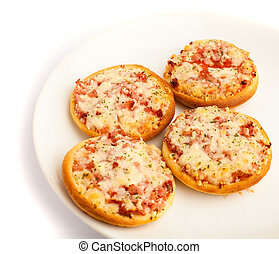 mini, pizza