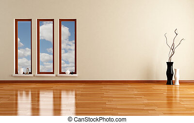 Clipart Of Empty Minimalist Living Room