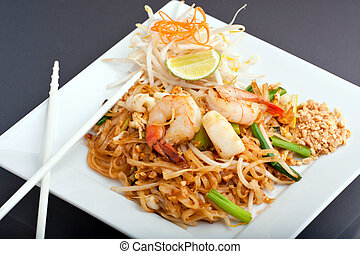 Seafood Pad Thai Fried Rice Noodles
