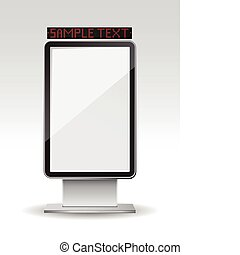 Blank vertical billboard - Vector illustration of a blank...
