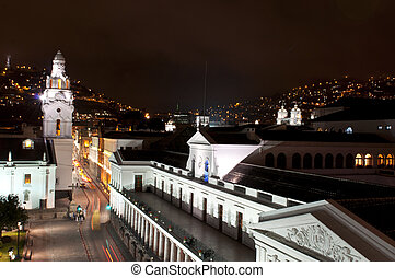 Night in Quito - Night of the historical center of Quito