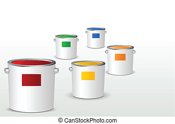 Paint Bucket - illustration of paint bucket filled with...