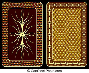 Playing cards. - Pattern on an underside of playing cards.