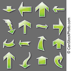 Different green arrows. Vector - Different arrows in green...
