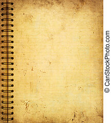 Page from old grunge notebook - Highly detailed image of a...
