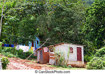 Jamaican Home - Typical Jamaican block home built on the...