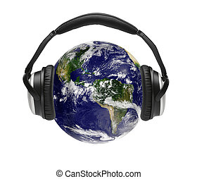 The world is listening - Global music concept, world with...
