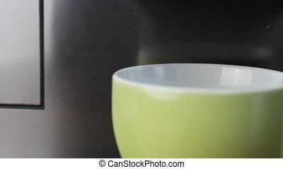Coffee time - Coffee maker with green cup