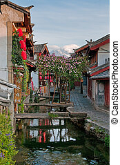 street of lijiang old town, yunnan, china