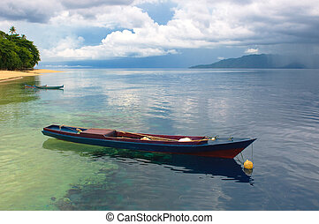 Traditional indonesian fishing boat, Banda islands