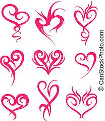 corazón, símbolo, diseño