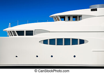 Luxury mega yacht - Detail of luxury mega yacht