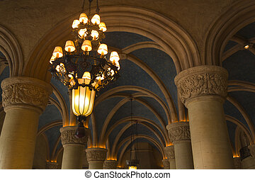 Biltmore Lighting - Antique interior lighting of the...