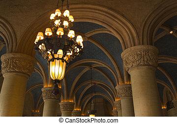 Biltmore Lighting - Antique interior lighting of the...