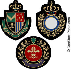insigina emblem badge shield - classical insigina emblem...
