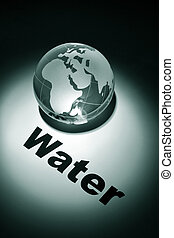 Global Water crisis - globe, concept of Global Water crisis...