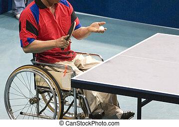 Wheel Chair Table Tennis - International wheel chair table...