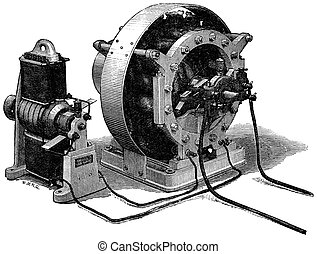 Siemens Alternate Current Dynamo - A ship's generator from...