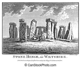 Stonehenge in 1786 - A 1786 engraving (possibly inaccurate)...