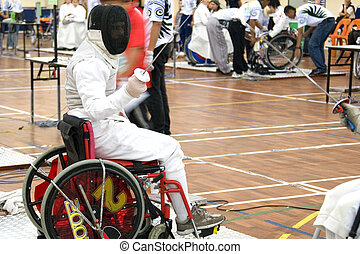Wheel Chair Fencing - Wheel chair fencing for disabled...
