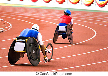 Wheel Chair Race for Disabled - Wheel chair race for...