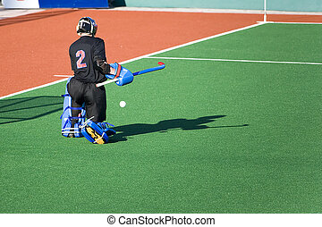 Field Hockey Goal Keeper - Field hockey goal keeper in...
