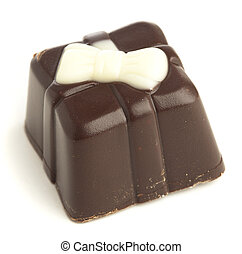 dark chocolate isolated on a white background