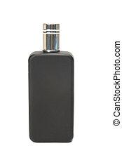 Perfume bottle - Black perfume bottle isolated on white