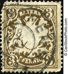 Bayern - BAYERN - CIRCA 1867: A stamp printed in Bayern...