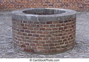 Well  - Medieval well in Leuvin , belgium