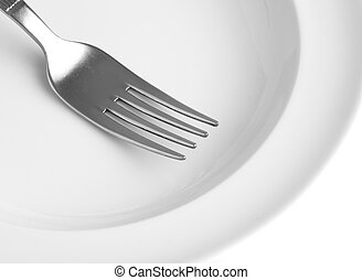 dishware - extreme closeup of a dishware on white surface