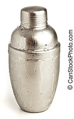 metal shaker isolated on a white background