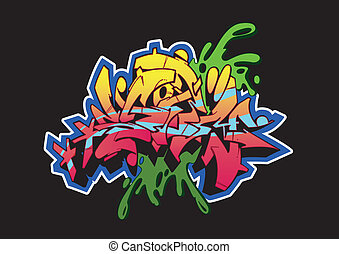 Graffiti Storm Black