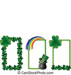 Set of St. Patrick`s day banners, part 4, vector illustration