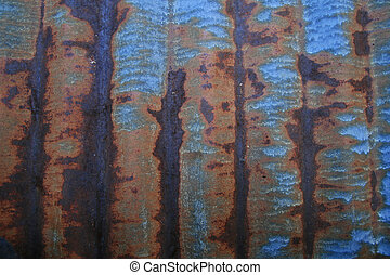 rusted sheet metal background