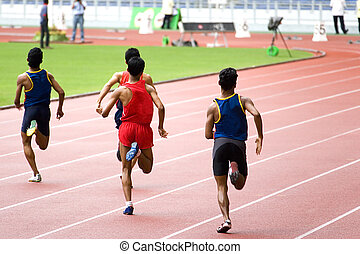 Athletics - Malaysian School Athletic Meet. Image shows...
