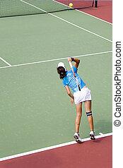 Junior Ladies Tennis - active, activities, activity, ball,...