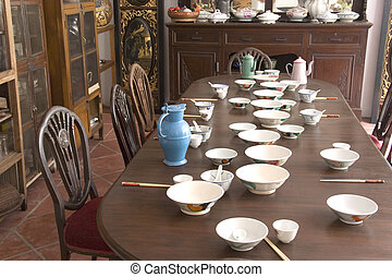 Vintage Peranakan Dining Room - A typical vintage dining...
