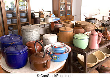 Vintage Peranakan Pots and Pans - These vintage pots and...
