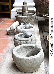 Traditional Mortars - Traditional vintage mortars made of...
