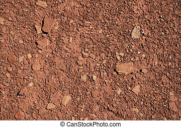 red soil background - mixed red shale and sandstone soil...